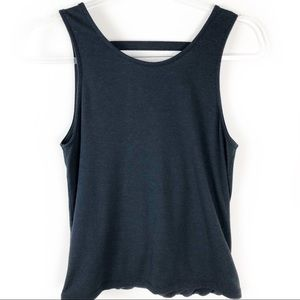 Onzie- Black Tank with cutout back design